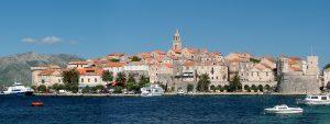 The fortified city of Korcula in Croatia
