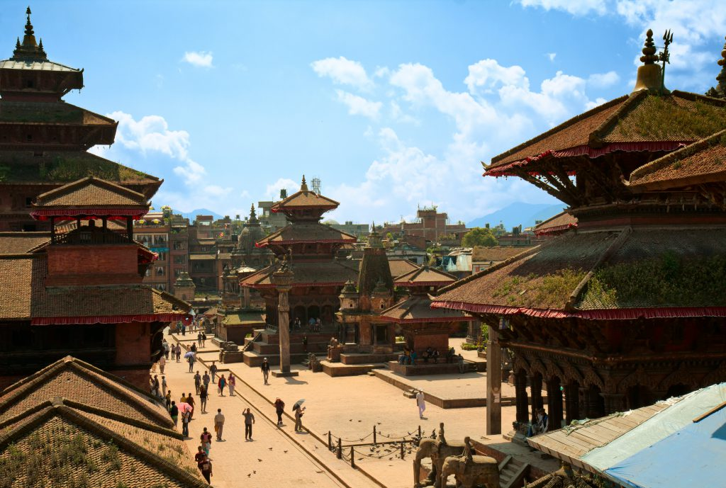 Patan Durbar Square one of the main sights of the Kathmandu valley