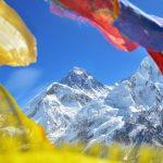 Summit of mount Everest or Chomolungma